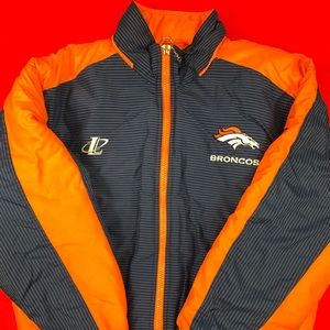 Denver Broncos Puffer Jacket Mens Large NFL